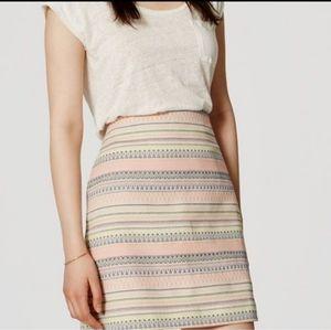 Ann Taylor Loft Striped Grosgrain Skirt